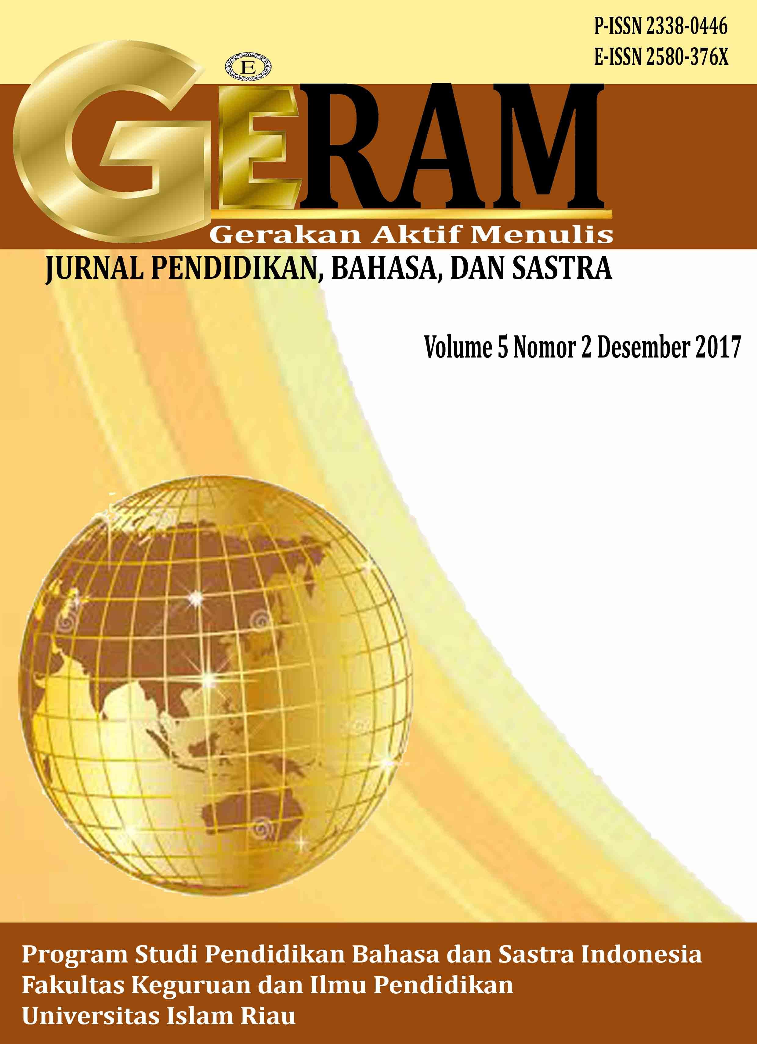 Vol 5 No 2 2017 Geram Gerakan Aktif Menulis Geram