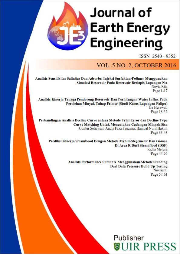 journal of earth energy engineering volume 5 no 2